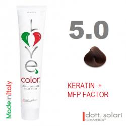 Love me Color 4.00 (100ml) - profesionální barva na vlasy s keratinem