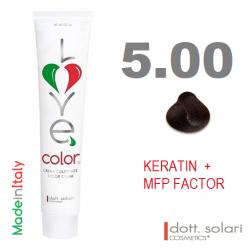 Love me Color 5.00 (100ml) - profesionální barva na vlasy s keratinem