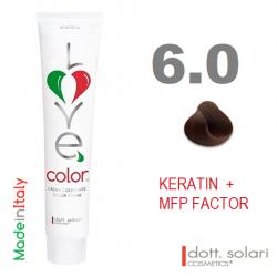 Love me Color 6.0 (100ml) - profesionální barva na vlasy s keratinem