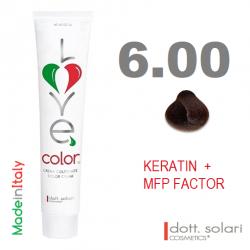 Love me Color 6.00 (100ml) - profesionální barva na vlasy s keratinem