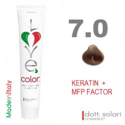 Love me Color 7.0 (100ml) - profesionální barva na vlasy s keratinem