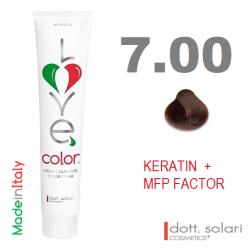 Love me Color 7.00 (100ml) - profesionální barva na vlasy s keratinem