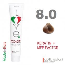 Love me Color 8.0 (100ml) - profesionální barva na vlasy s keratinem