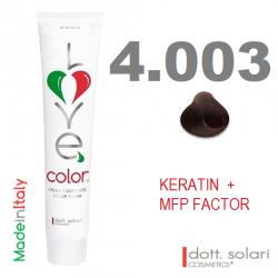 Love me Color 4.003 (100ml) - profesionální barva na vlasy s keratinem