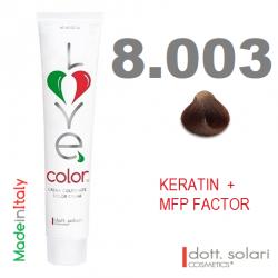 Love me Color 8.003 (100ml) - profesionální barva na vlasy s keratinem