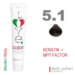 Love me Color 5.1 (100ml) - profesionální barva na vlasy s keratinem
