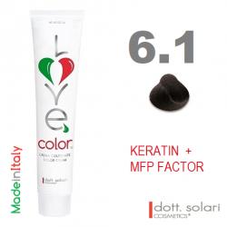 Love me Color 6.1 (100ml) - profesionální barva na vlasy s keratinem