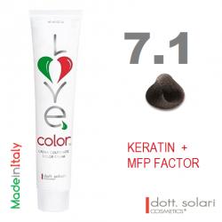 Love me Color 7.1 (100ml) - profesionální barva na vlasy s keratinem