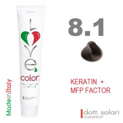 Love me Color 8.1 (100ml) - profesionální barva na vlasy s keratinem