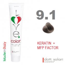 Love me Color 9.1 (100ml) - profesionální barva na vlasy s keratinem
