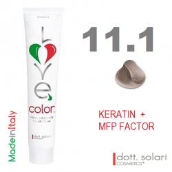 Love me Color 11.1 (100ml) - profesionální barva na vlasy s keratinem