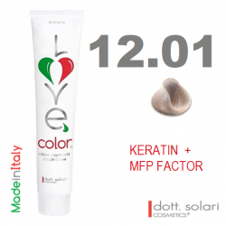 Love me Color 12.01 (100ml) - profesionální barva na vlasy s keratinem