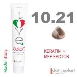 Love me Color 10.21 (100ml) - profesionální barva na vlasy s keratinem