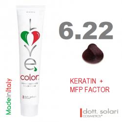 Love me Color 6.22 (100ml) - profesionální barva na vlasy s keratinem