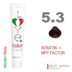 Love me Color 5.3 (100ml) - profesionální barva na vlasy s keratinem