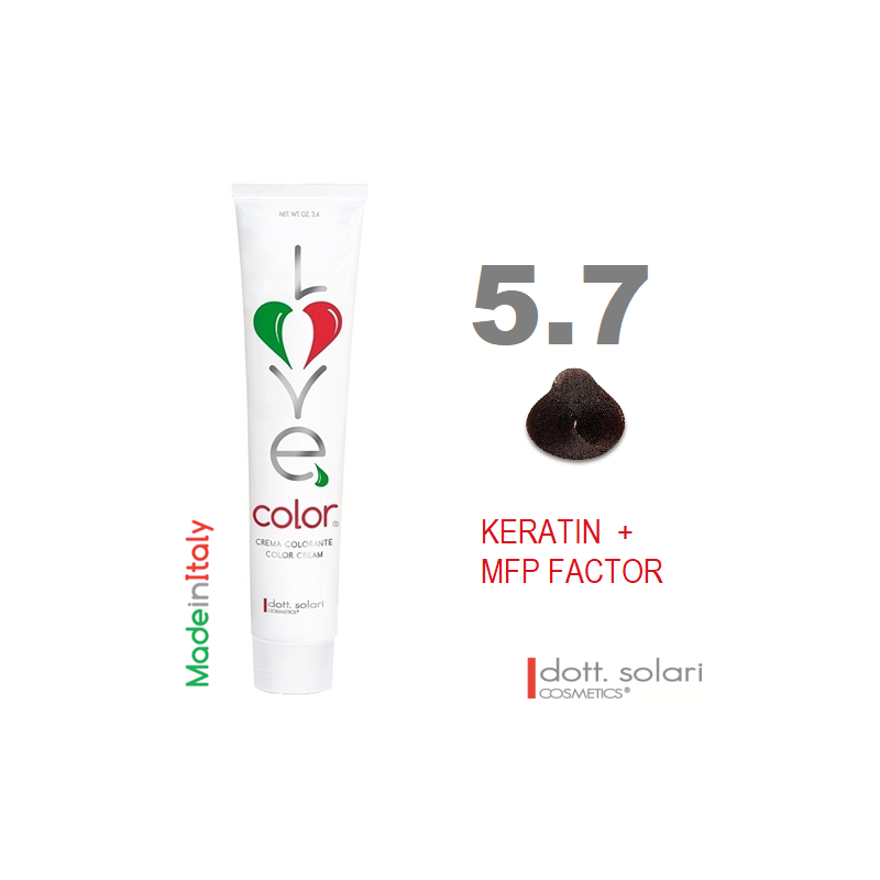 Love me Color 5.7 (100ml) - profesionální barva na vlasy s keratinem