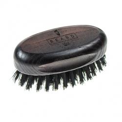 BEARD & MOUSTACHE BRUSH - kartáč na vousy a knír s kančími štětinami.