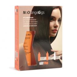neutralizace nežádoucích měděných / červených tónů u tmavě barvených vlasů - No Orange set