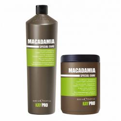Macadamia Oil set (2x1000ml) - regenerační set (šampon + maska) pro jemné a citlvé vlasy s olejem Macadami Oil