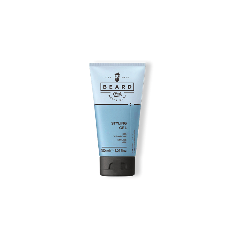 Gel for men Beard Club (180ml) - modelační gel na vlasy, který tvaruje a definuje vlasy s pružným zpevněním