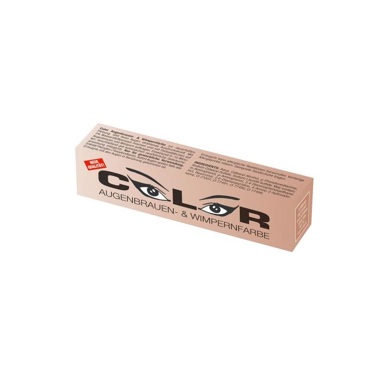 Eyelash and eyebrow tint (15 ml) light brown - barva na řasy a obočí, světle hnědá