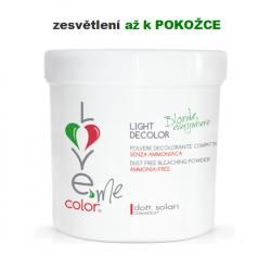 LIGHT Decolor (500g) - melírovací prášek BEZ AMONIAKU určený speciálně pro křehké a jemné vlasy