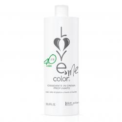 Love me color OXY 12% (1000ml) - krémová oxidační emulze (peroxid) na vlasy