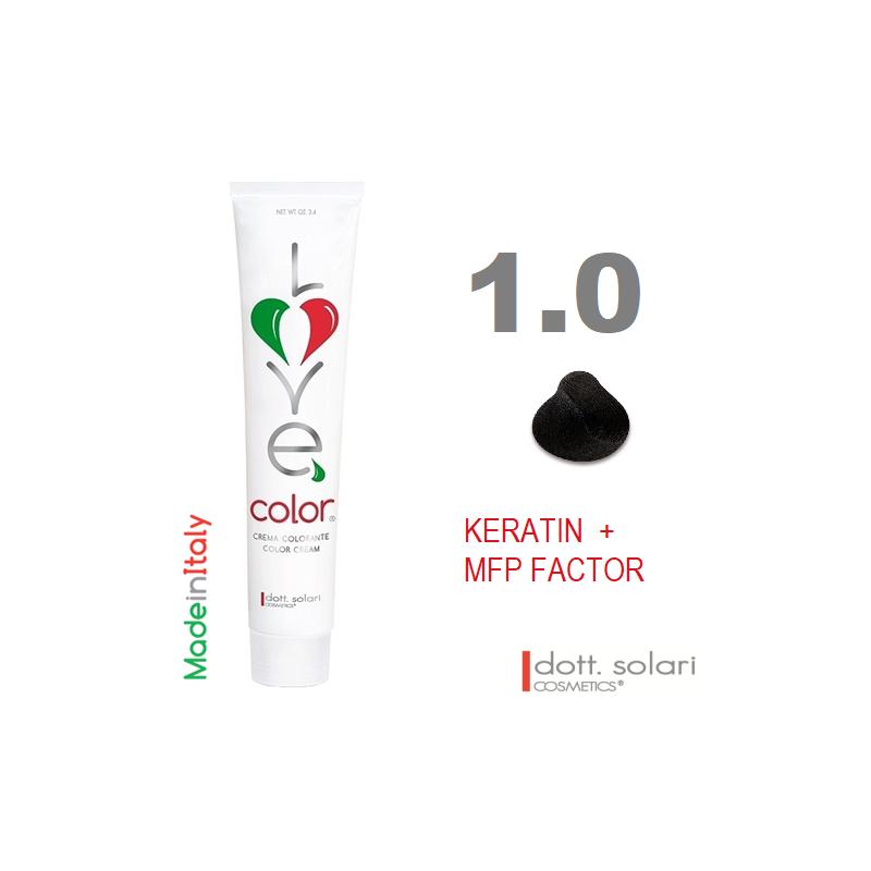 Love me Color 1.0 (100ml) - profesionální barva na vlasy s keratinem